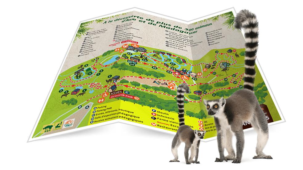 Plan du parc zoo Tregomeur